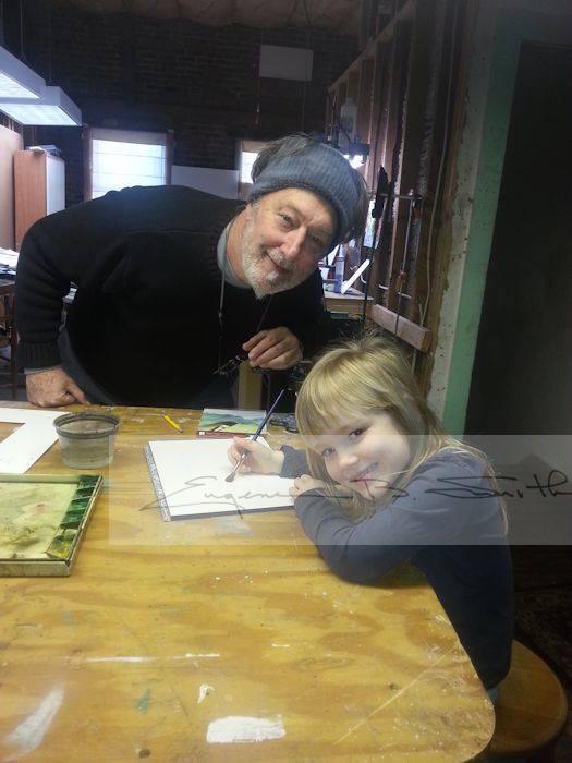Eugene & his great-niece Sarah