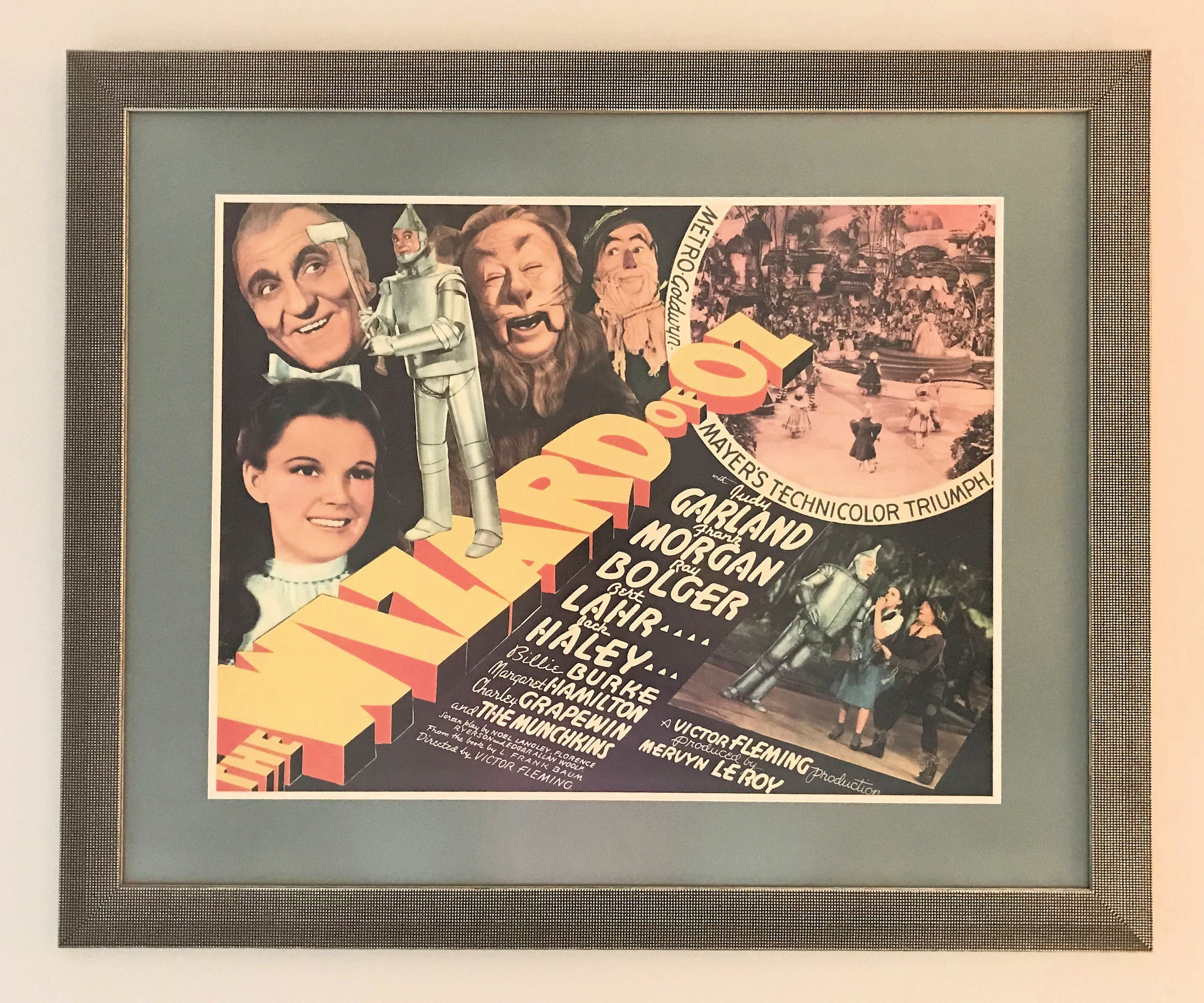 A Wizard of Oz poster from 1967. The art deco style frame makes the piece really special.