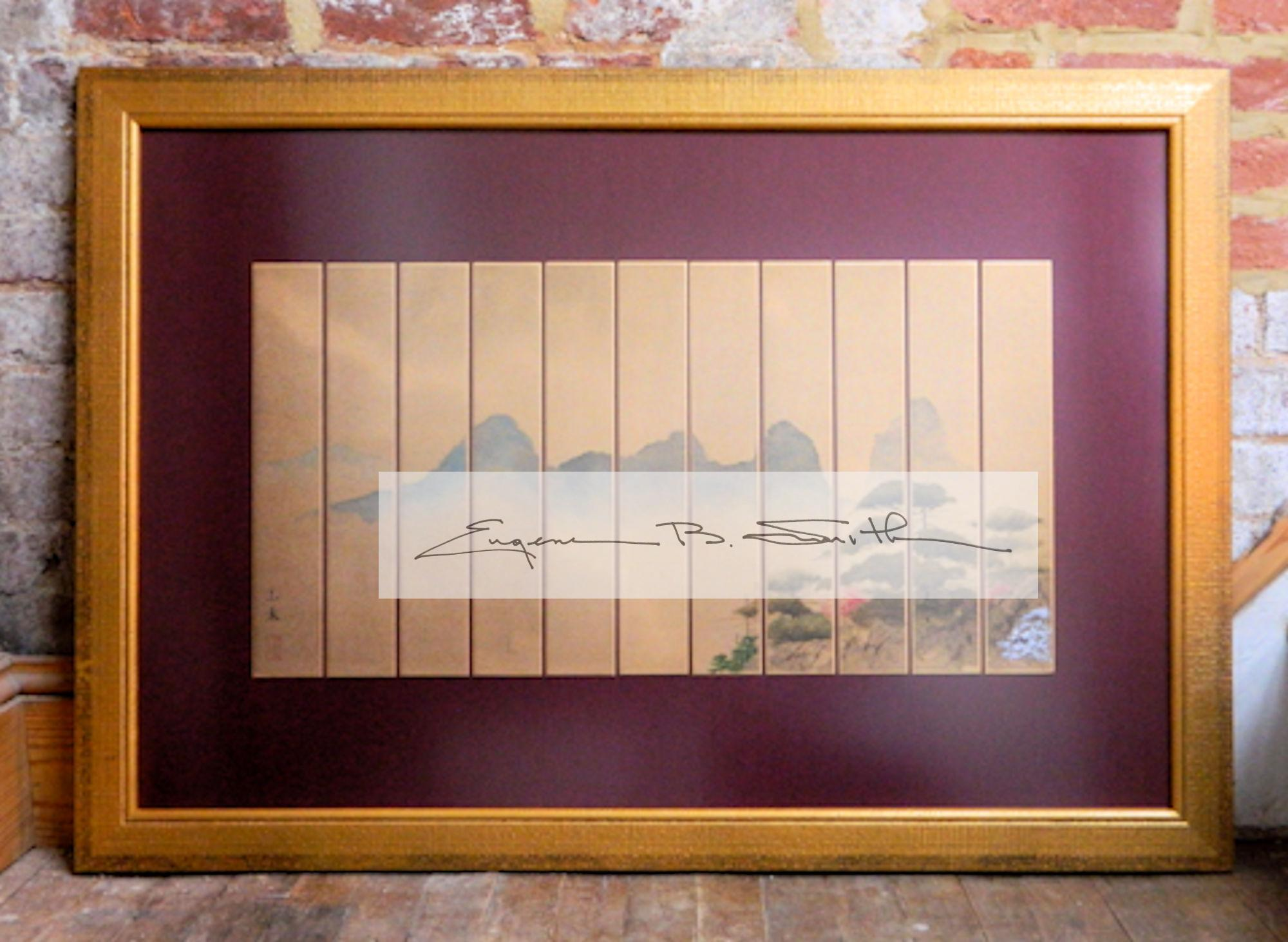 Spring Mountains | Eleven Panel Tanzaku | Frame size: 24 x 36 | Call for price
