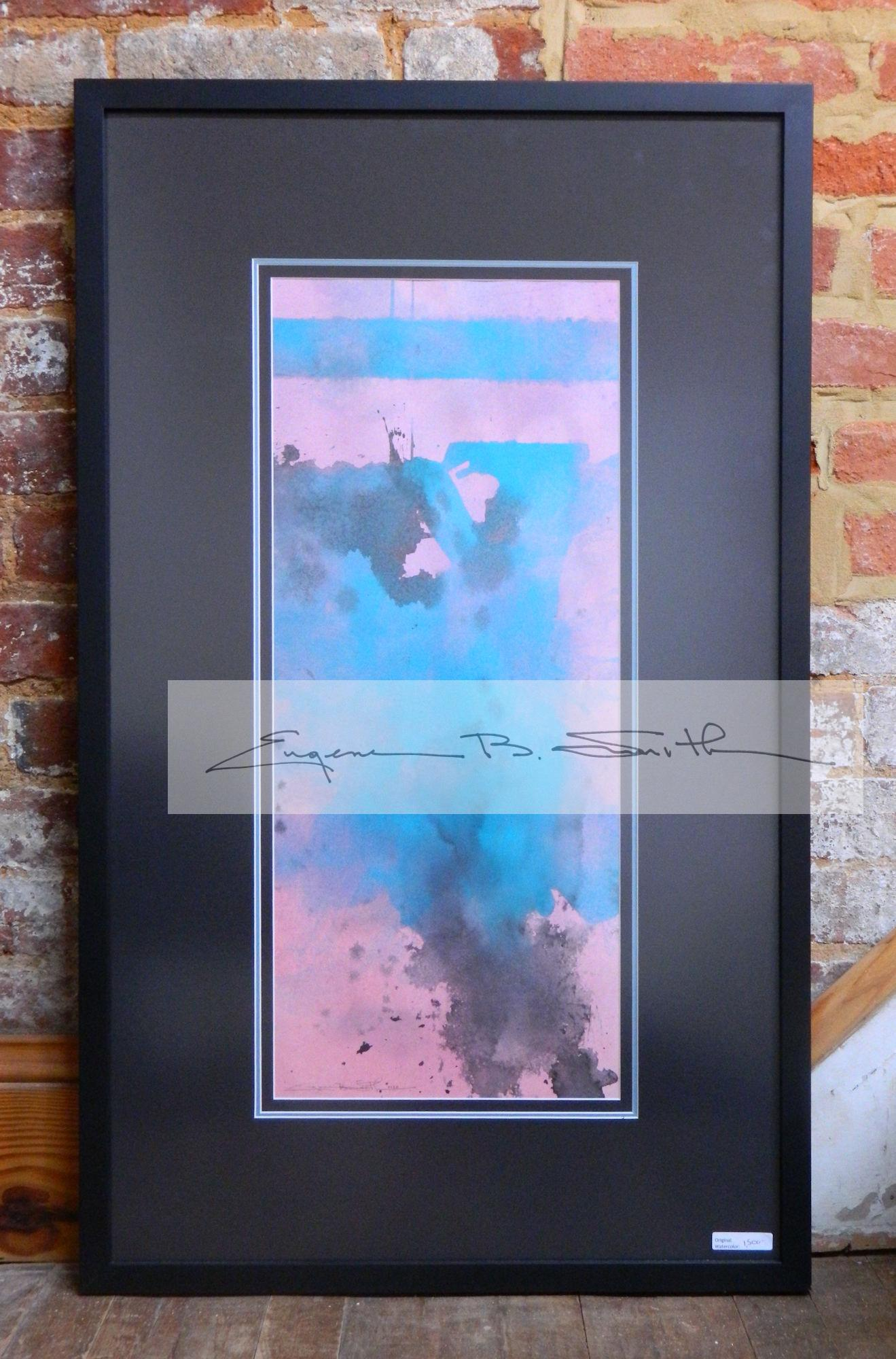 Blue Abstract | Image size: 23.5 x 10 | Frame size: 33.5 x 20 | Call for price