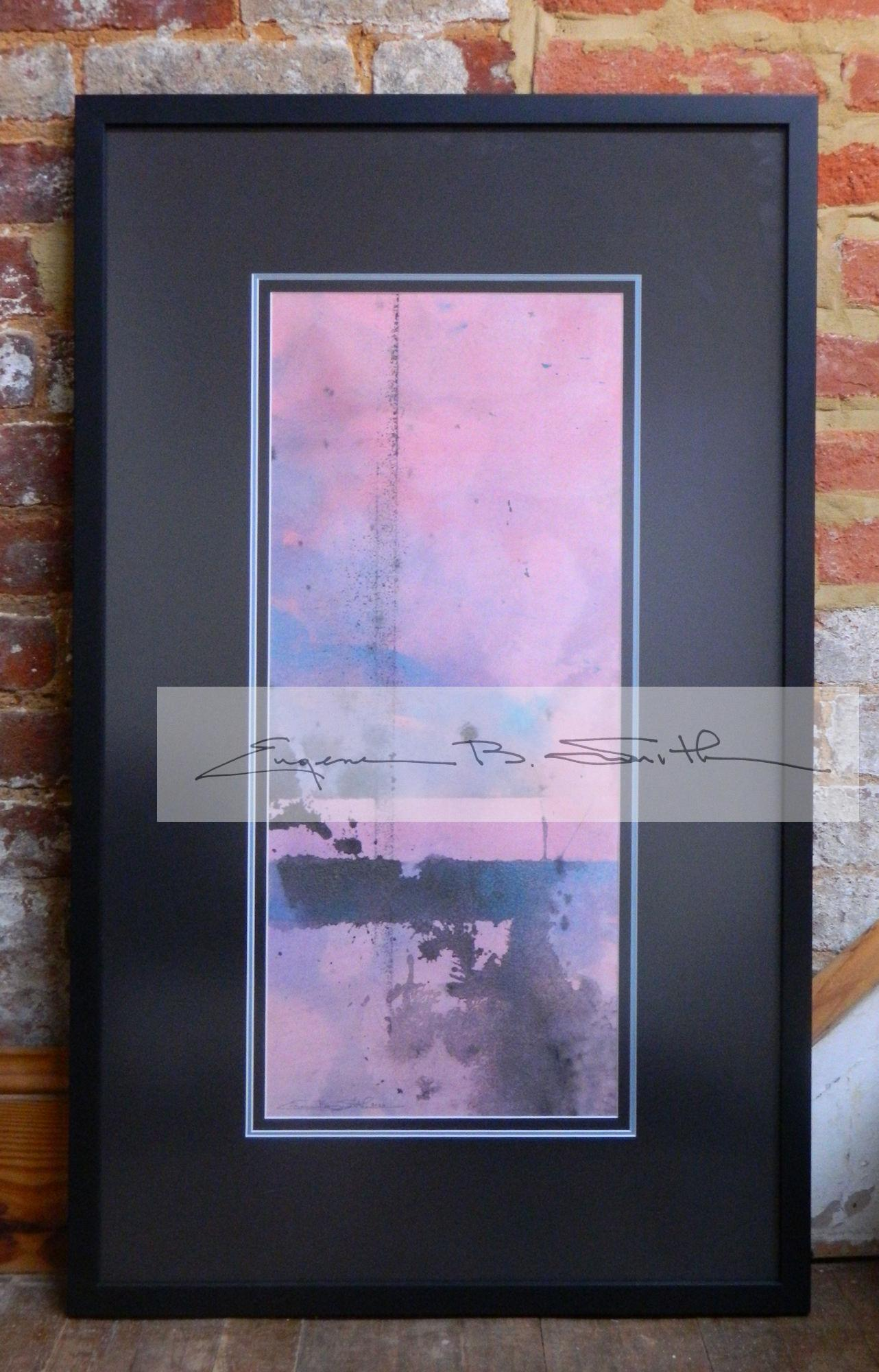 Pink Abstract | Image size: 23.5 x 10 | Frame size: 33.5 x 10 | Call for price