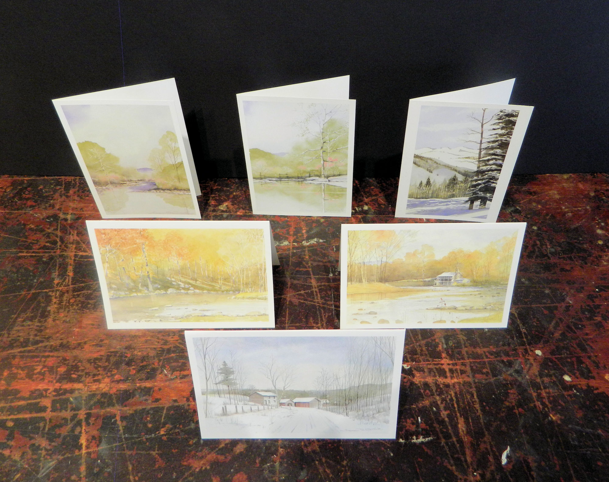 Notecards in this pack: Route 700 | The Landing | Cacapon River | Shenandoah | Opequon | Powder | 6-pack w/envelopes $18