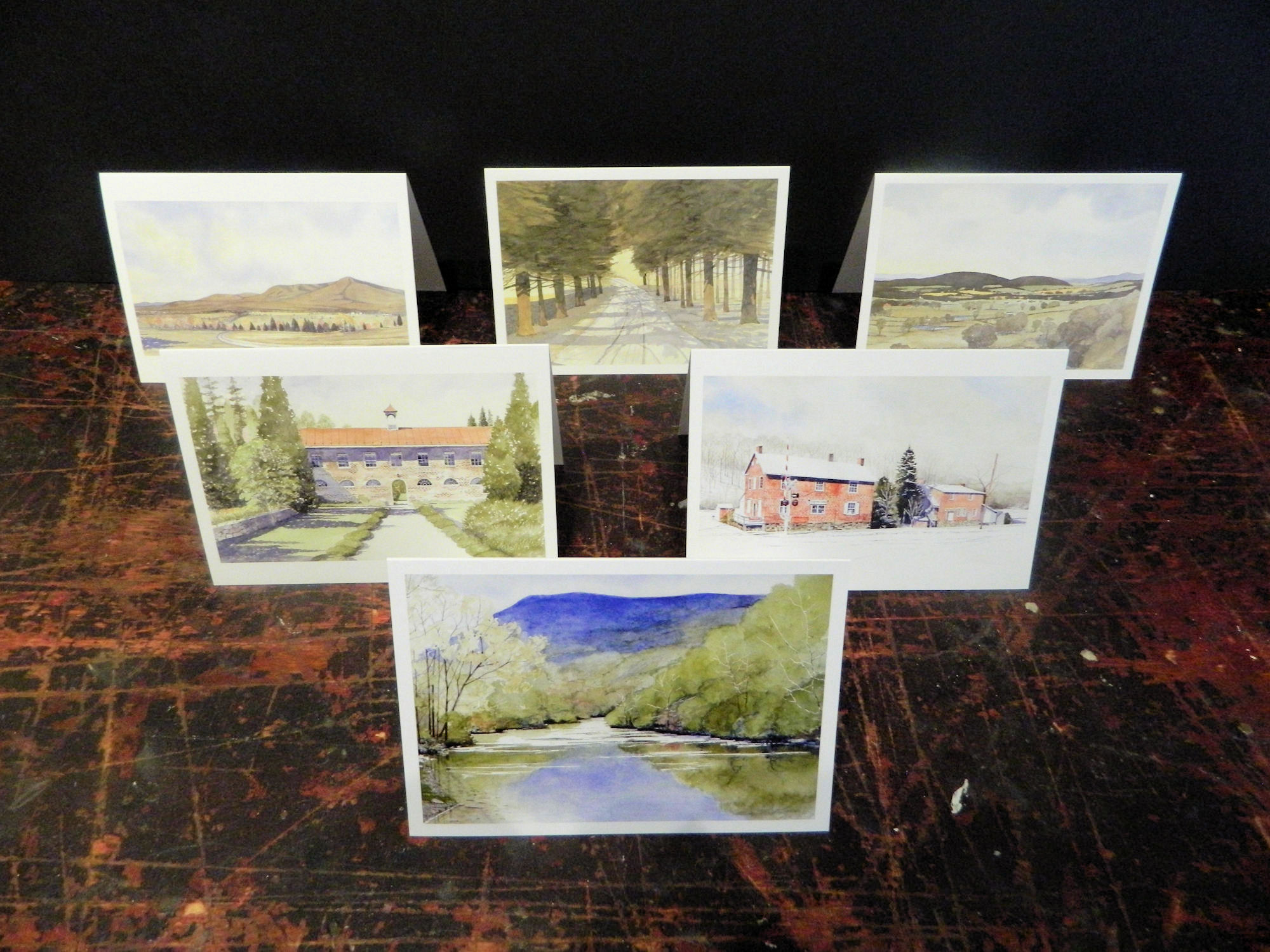 Notecards in this pack: Shenandoah River | The Quarters | Piedmont Station | Signal Knob | Lebanon Cedars | Ashby Gap | 6-pack w/envelopes $18