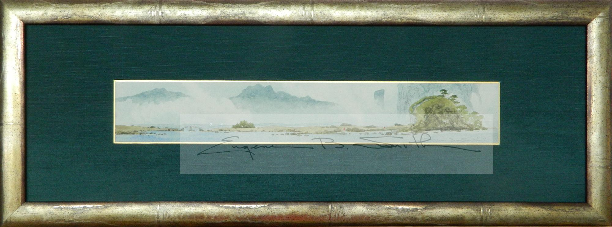 Meditation | Single Panel Tanzaku | Frame size: 7 x 21 | Call for price