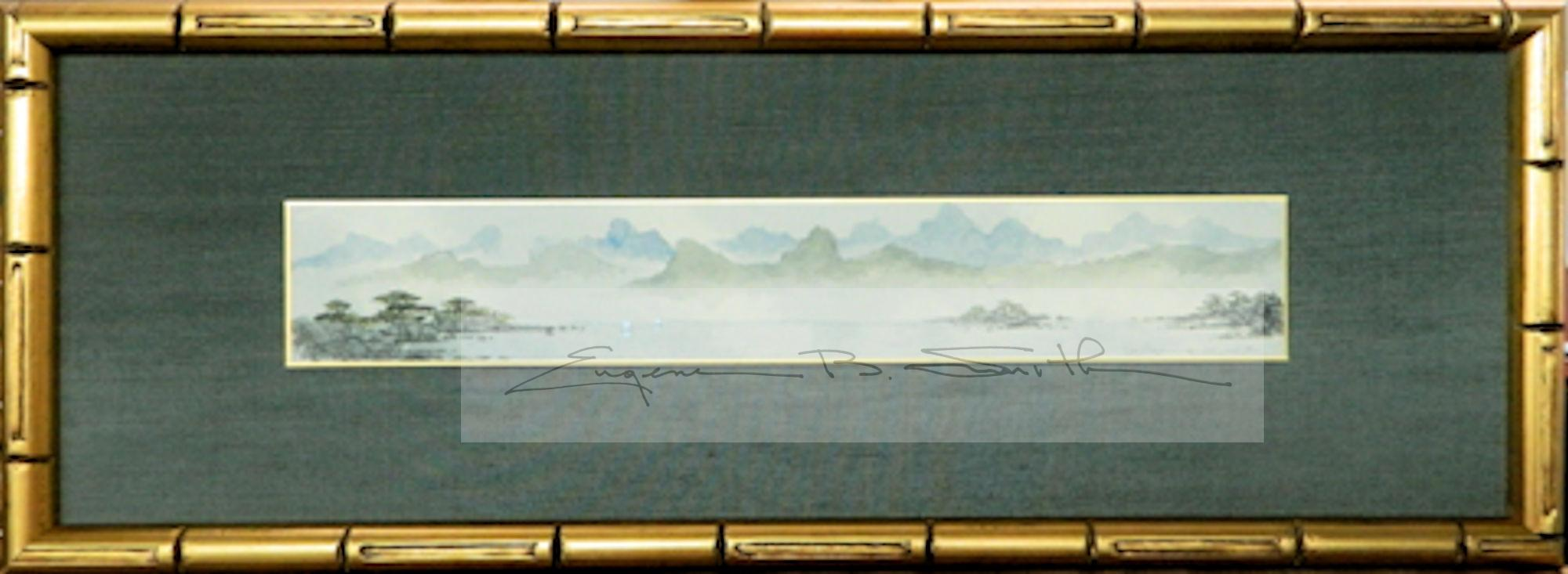 Guilin Mountains | Single Panel Tanzaku | Frame size: 7 x 21 | Call for price